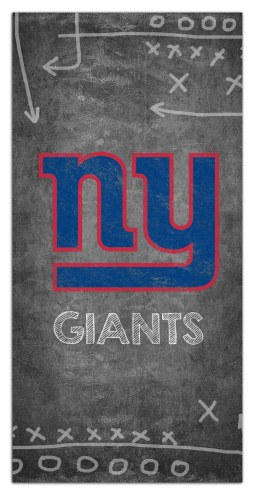 "New York Giants 6"" x 12"" Chalk Playbook Sign"