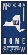 "New York Giants 6"" x 12"" Coordinates Sign"