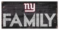 """New York Giants 6"""" x 12"""" Family Sign"""
