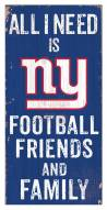 """New York Giants 6"""" x 12"""" Friends & Family Sign"""