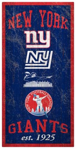 "New York Giants 6"" x 12"" Heritage Sign"