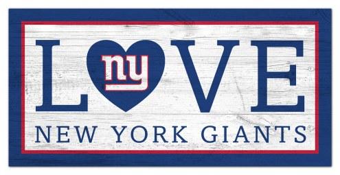 "New York Giants 6"" x 12"" Love Sign"