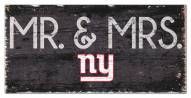 """New York Giants 6"""" x 12"""" Mr. & Mrs. Sign"""
