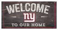 """New York Giants 6"""" x 12"""" Welcome Sign"""