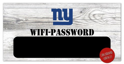 "New York Giants 6"" x 12"" Wifi Password Sign"