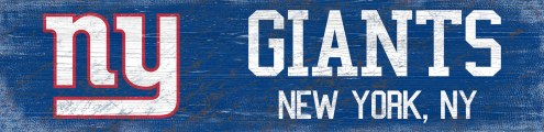 "New York Giants 6"" x 24"" Team Name Sign"