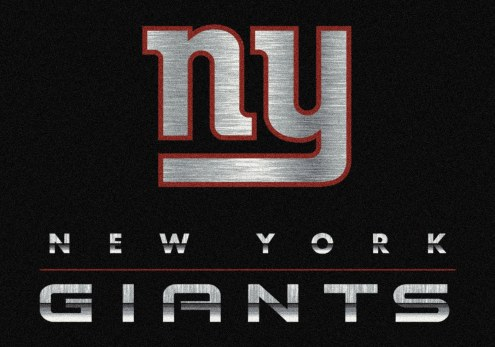 New York Giants 6' x 8' NFL Chrome Area Rug