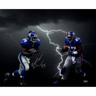 "New York Giants Ahmad Bradshaw Lightning Collage Signed 16"" x 20"" Photo"