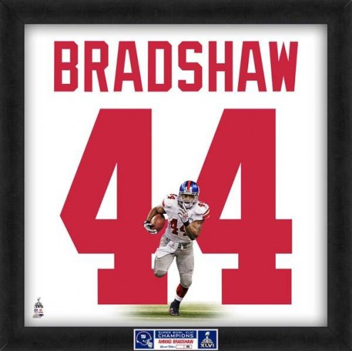 New York Giants Ahmad Bradshaw Uniframe Framed Jersey Photo