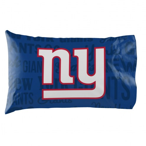 New York Giants Anthem Pillowcase Set