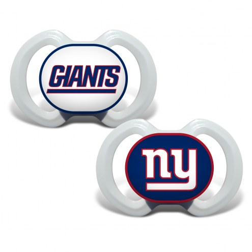 New York Giants Baby Pacifier 2-Pack