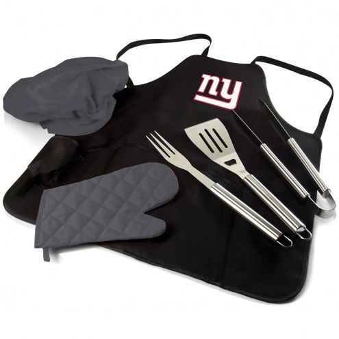 New York Giants BBQ Apron Tote Set