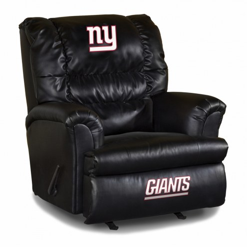 New York Giants Big Daddy Leather Recliner