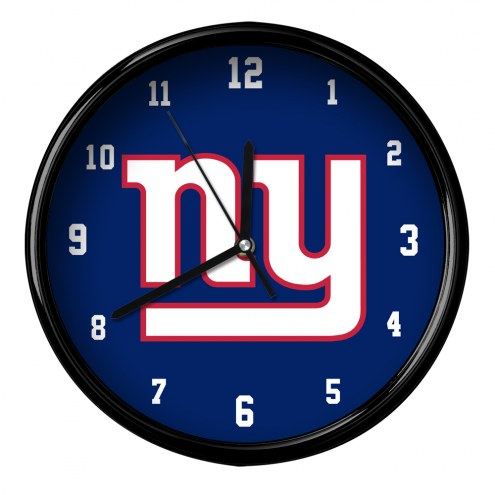 New York Giants Black Rim Clock