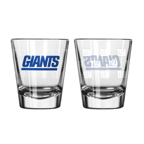 New York Giants Satin Etch Shot Glass Set