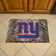 New York Giants Camo Scraper Door Mat
