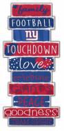 New York Giants Celebrations Stack Sign
