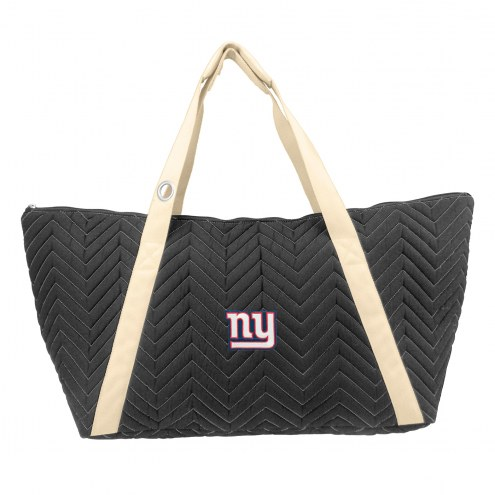 New York Giants Chevron Stitch Weekender Bag