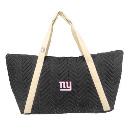 New York Giants Chevron Stitch Weekender Bag