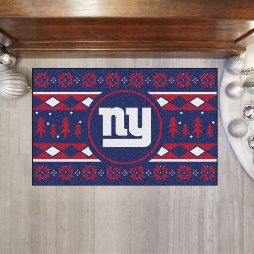 New York Giants Christmas Sweater Starter Rug
