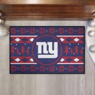 New York Giants Christmas Sweater Starter Rug