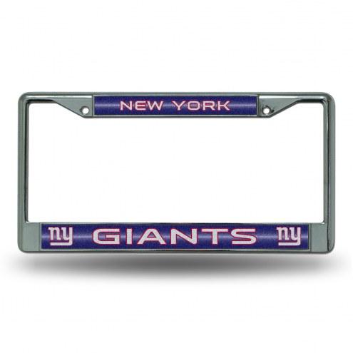 New York Giants Chrome Glitter License Plate Frame