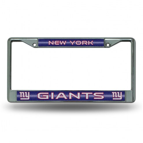 New York Giants Chrome Glitter License Plate Frame