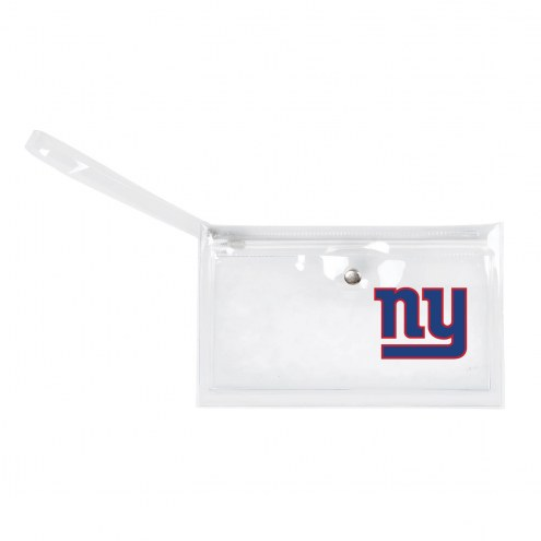 New York Giants Clear Ticket Wristlet