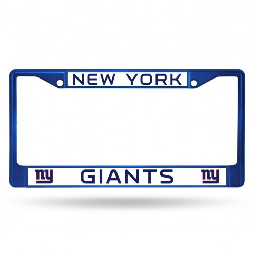 New York Giants Color Metal License Plate Frame
