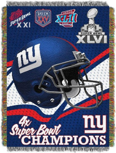 New York Giants Commemorative Throw Blanket