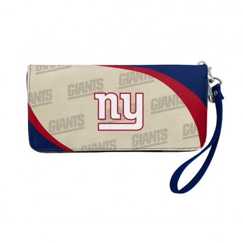 New York Giants Curve Zip Organizer Wallet