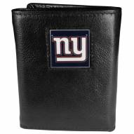 New York Giants Deluxe Leather Tri-fold Wallet in Gift Box