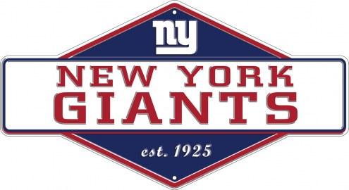 New York Giants Diamond Panel Metal Sign