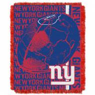 New York Giants Double Play Jacquard Throw Blanket