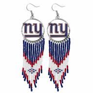 New York Giants Dreamcatcher Earrings