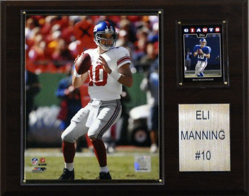 "New York Giants Eli Manning 12 x 15"" Player Plaque"