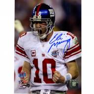 New York Giants Eli Manning Signed Super Bowl XLII Scream 8 x 10 Photo