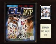 "New York Giants Eli Manning Super Bowl XLII MVP 12 x 15"" Player Plaque"