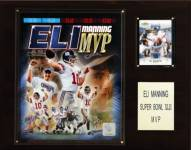 "New York Giants Eli Manning Super Bowl XLII MVP 12 x 15"" Player Plaque"