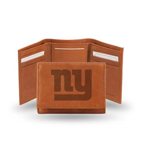 New York Giants Embossed Tri-Fold Wallet