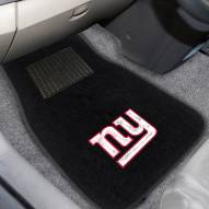 New York Giants Embroidered Car Mats
