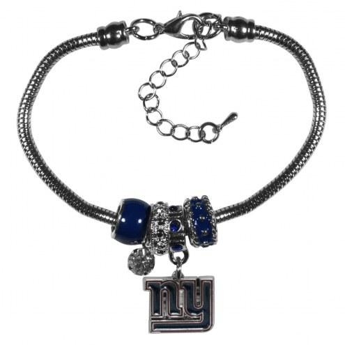 New York Giants Euro Bead Bracelet