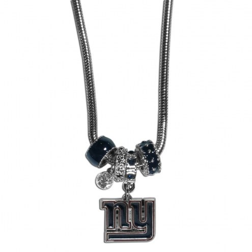 New York Giants Euro Bead Necklace