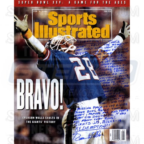 "New York Giants Everson Walls Signed Sports Illustrated Story Signed 16"" x 20"" Photo"