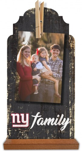 New York Giants Family Tabletop Clothespin Picture Holder