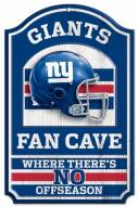 New York Giants Fan Cave Wood Sign