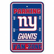 New York Giants Fan Zone Parking Sign