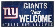 New York Giants Fans Welcome Sign