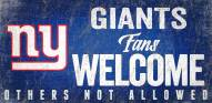 New York Giants Fans Welcome Wood Sign