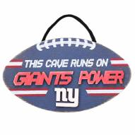 New York Giants Football Power Wood Sign